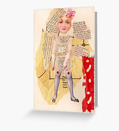 Anatomy of a doll 13 Greeting Card