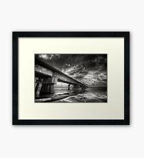 Mission river Bridge Framed Print