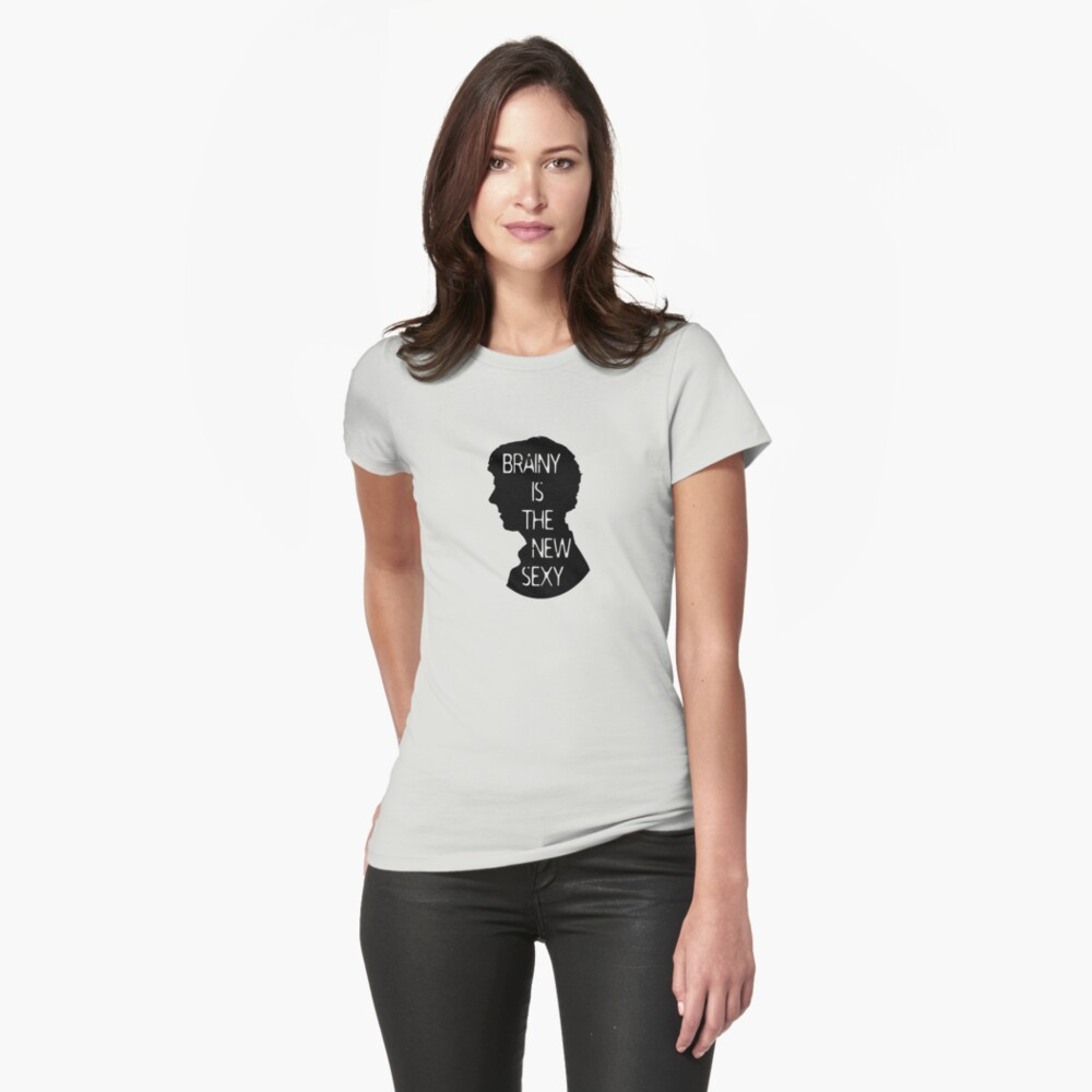 Brainy is the new sexy Womens T-Shirt Front