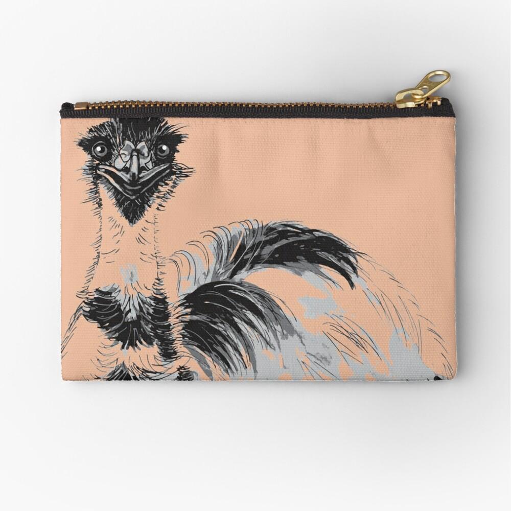 Emu Black and White Zipper Pouch