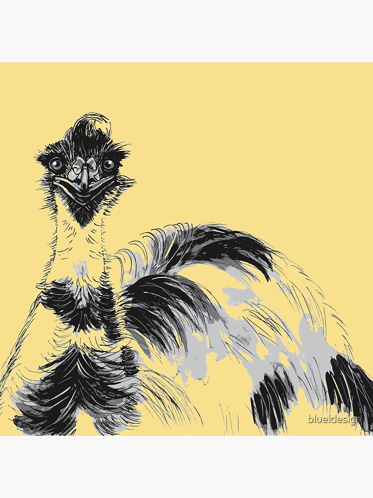 Emu Black and White by blueidesign