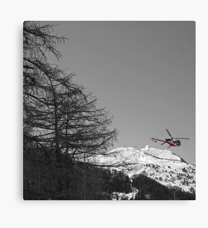Colourful Copter Canvas Print