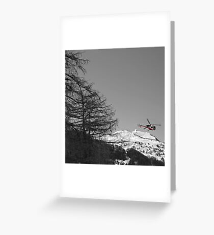 Colourful Copter Greeting Card