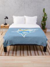 The LIU Sharks Throw Blanket