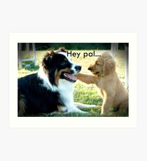 Hey pal - two dogs Art Print