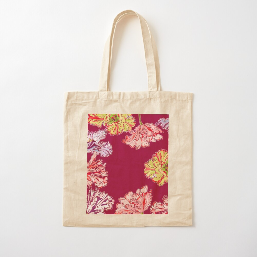 Colorful Tulips Cotton Tote Bag