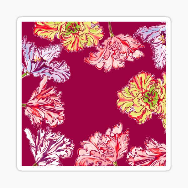 Colorful Tulips Glossy Sticker