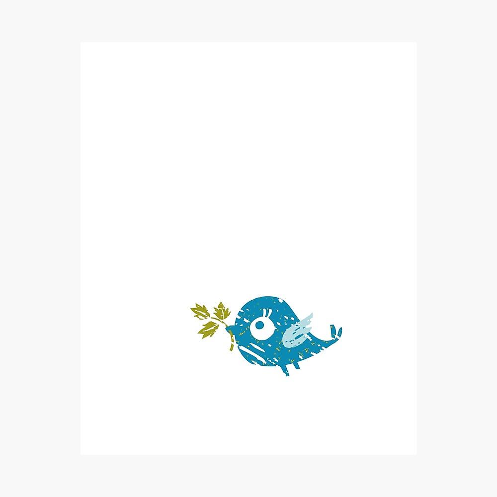 Blue Bird Photographic Print