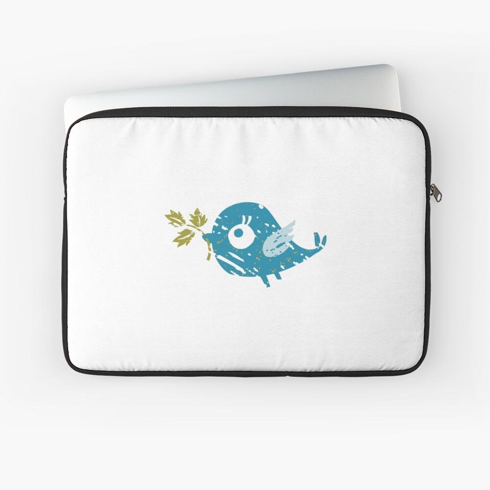 Blue Bird Laptop Sleeve