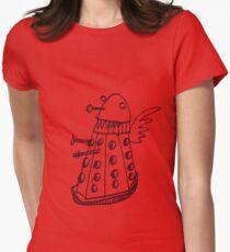 Dalek angel Womens Fitted T-Shirt