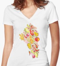 Mexican Salad Fitted V-Neck T-Shirt