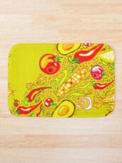 Mexican Salad Bath Mat