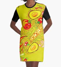 Mexican Salad Graphic T-Shirt Dress