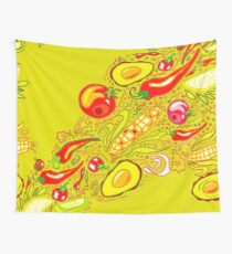 Mexican Salad Wall Tapestry