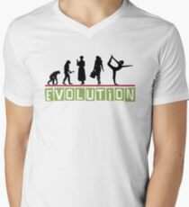 "Yoga ""Evolution"" T-Shirt Men's V-Neck T-Shirt"