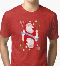 Santa. Ho-Ho-Ho! Tri-blend T-Shirt
