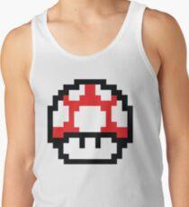 8-Bit Mario Nintendo Mushroom Red Tank Top