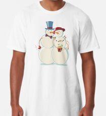 Snowmen Love Long T-Shirt