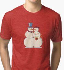 Snowmen Love Tri-blend T-Shirt