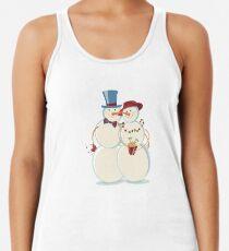 Snowmen Love Racerback Tank Top