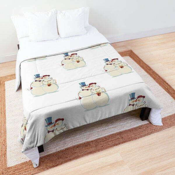 Snowmen Love Comforter