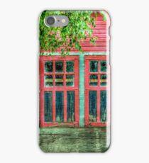 Red Garage iPhone Case/Skin
