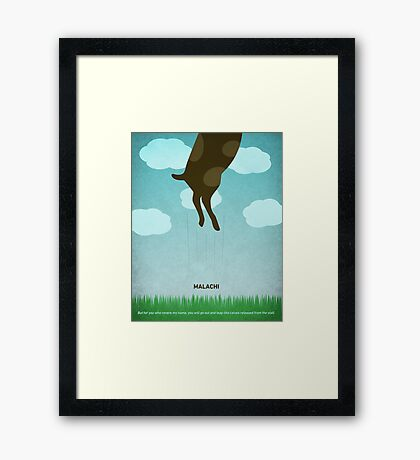 Word: Malachi Framed Print