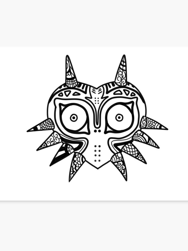 Impression Sur Toile Masque De Majoras Doodle Zelda Nintendo