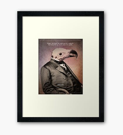 Word: Micah Framed Print