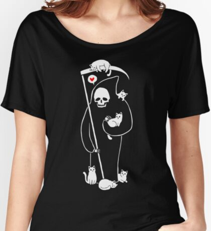 Death Is A Cat Person Relaxed Fit T-Shirt