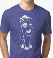Death Is A Cat Person Tri-blend T-Shirt