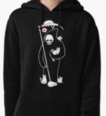 Death Is A Cat Person Pullover Hoodie