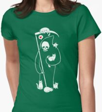 Death Is A Cat Person Womens Fitted T-Shirt