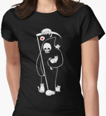 Death Is A Cat Person Women's Fitted T-Shirt