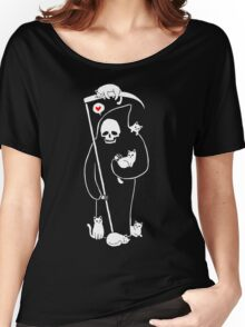 Death Is A Cat Person Women's Relaxed Fit T-Shirt