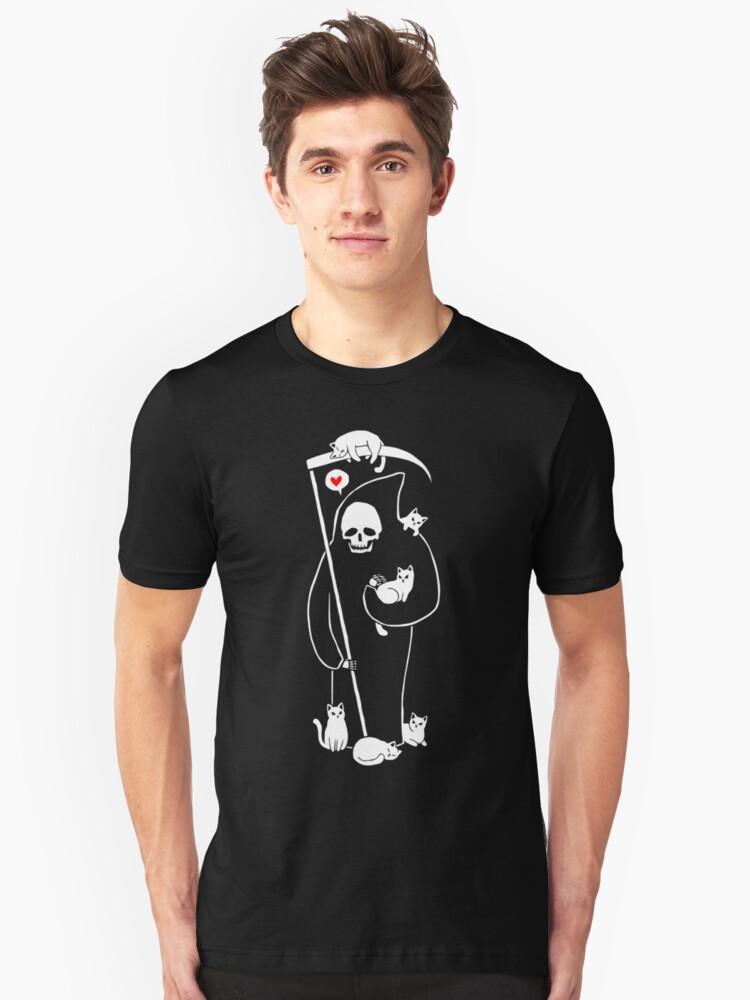 Death Is A Cat Person Unisex T-Shirt Front