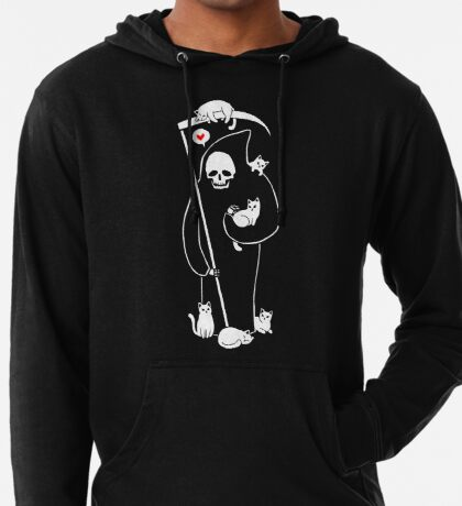 Death Is A Cat Person Lightweight Hoodie