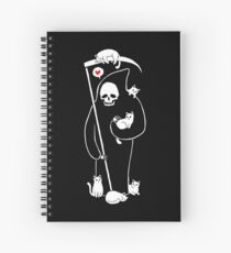 Death Is A Cat Person Spiral Notebook