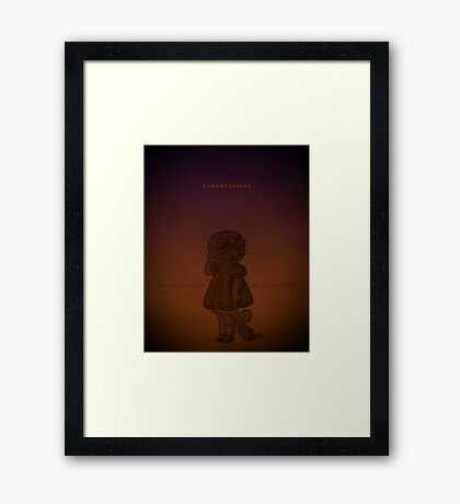 Word: Lamentations Framed Print