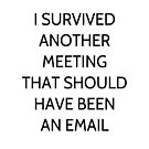 I Survived Another Meeting That Should Have Been An Email by coolfuntees