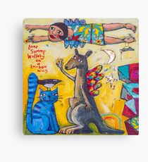 Lone Swamp wallaby Canvas Print
