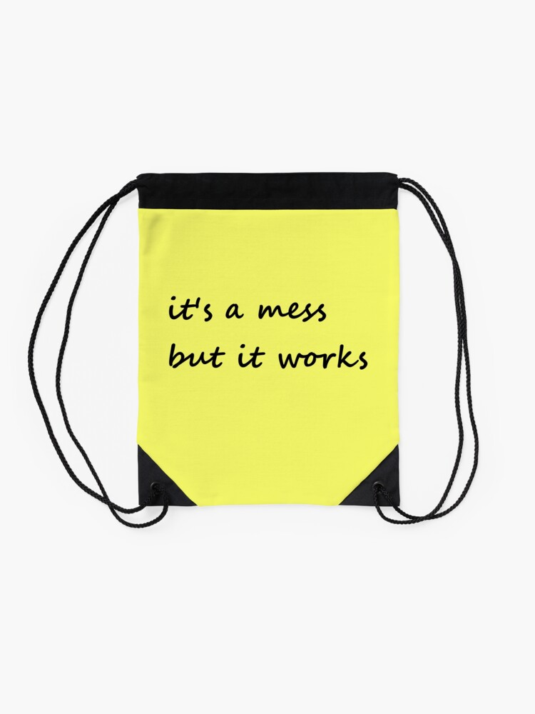 Alternate view of it's a mess but it works - Drawstring Bag Drawstring Bag