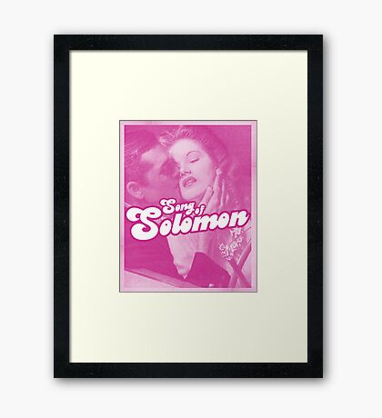 Word Leftovers: Song of Solomon 3 Framed Print