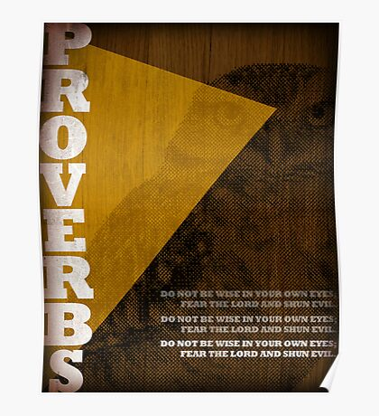 Word: Proverbs Poster