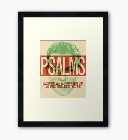 Word: Psalms 3 Framed Print