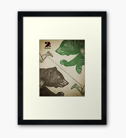 Word Leftovers: 2 Kings Framed Print