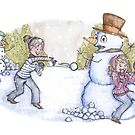 Snowball Fight! by Amber Witt