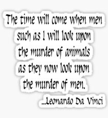 Vegetarian Quote Leonardo Da Vinci Sticker