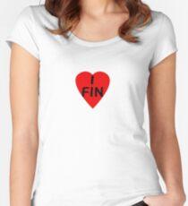 FIN - Suomi auto tarrat ja siirtokuvat Women's Fitted Scoop T-Shirt