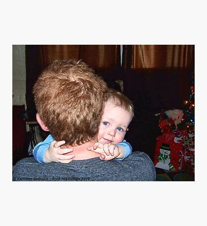 A Christmas Hug Photographic Print